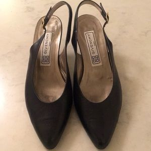 Givenchy sling back leather pump